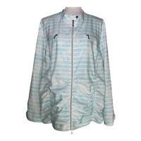 Chico's Zenergy 4 women's jacket full zip striped print stretch plus size XXL