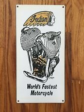 Indian Motorcycle Worlds Fastest Motorcycles Chief Scout Ad Vintage Metal Sign