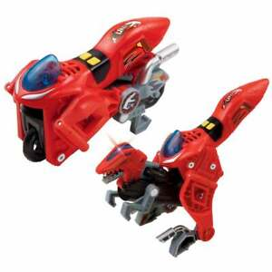 vTech Switch & and Go Dinos Akuna the Velociraptor Dinosaur Red Motorcycle Bike
