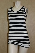 JM Collection BLACK AND WHITE STRIPE TOP  M  _________________ R14A4