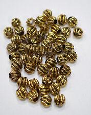 Beads Gold Squash Round Beads 9-10mm