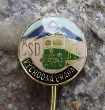 Czechoslovakia Czech Rail Railway System Train Eastern Region CSD Pin Badge