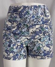 """""""ANN TAYLOR"""" BLUE/WHITE FLORAL PRINT CASUAL DRESS SIGNATURE SHORTS SIZE: 12 NWT"""