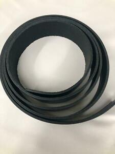 "1"" Wide Black 9/10 Oz Latigo Leather PRECUT Strap Blank Belt - Length 12 to 96"""