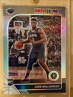 2019-20 NBA Hoops Premium Stock ZION WILLIAMSON SSP SILVER HOLO PRIZM RC #258🔥