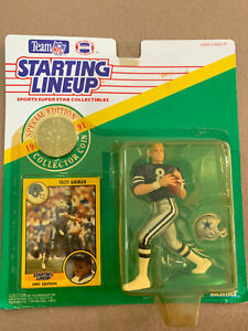 Troy Aikman 1991 Starting Lineup Action Figure With Card & Coin Factory Sealed