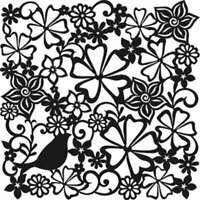 "Viva Decor Large Background Stencil 11.4/""X11.4/""-Lace 3 Pack"