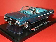 Sun Star 1/18 1961 CHevrolet Impala Open Convertible Twilight Turquoise MiB