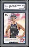 2012 Natalie Coughlin  Topps Usa Olympics Swimming Rookie Gem Mint 10 #9
