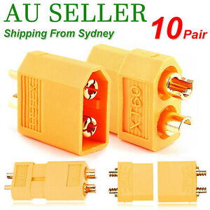 10 Pairs XT30 XT60 XT90 Male Female Bullet Connector Plug for Lipo Battery AU