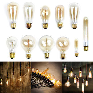 40W E27 Filament Light Bulb Vintage Decor Industrial Style Lamp Eddison 220V new