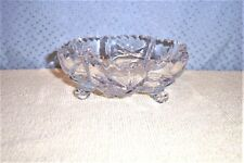 AMERICAN BRILLIANT CUT GLASS FOOTED OPEN CANDY DISH MINT
