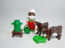 PLAYMOBIL Pastora Lechera con vacas, Campesina, Belén, Navidad, Christmas