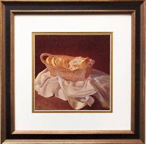 """Salvador Dali """"The Basket of Bread"""" CUSTOM FRAMED ART Surreal Surrealism Spanish"""