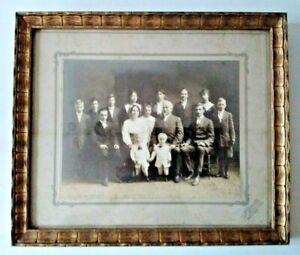 Antique 1910 Family Portrait Studio Photograph A. Rentschler DETROIT MI Framed