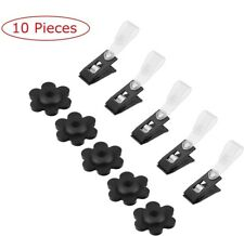 10Pcs Garden Flag Rubber Stoppers Plastic Clips for Garden Flag Poles Stand N353