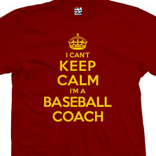Baseball Coach T-Shirt - I Can't Keep Calm I'm a Manager Gift All Size & Colors