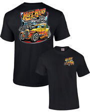 Hot Rod Diner Muscle Car Adult Tee Shirt Black