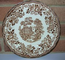 "Alfred Meakin: Brown ""TONQUIN"" Pattern Dinner Plate: 10"" Diameter"