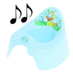 Easy Clean Toilet Potty Training Baby Kids Toddler Colourful Animal Duck (Blue)