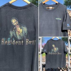 Rare VTG Resident Evi Capcom Nintendo Cube Video Game Promo Zombie T Shirt XL