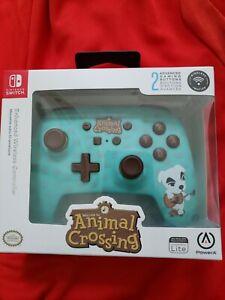 NEW PowerA 1515668-01 Animal Crossing Enhanced Wireless Controller KK Slider