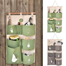 Cute Door Wardrobe Wall Hanging Multi-Pocket Storage Bag Container Organizer