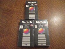 lot de 3 cassettes video vhs vierge scotch EG+ extra grade plus E 180