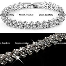 BLACK FRIDAY SALE 925 Silver Tennis Bracelet Crystals Gifts For Her Women Mum X4