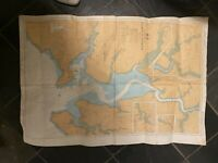 Large Vintage 1990s Colour Admiralty Chart 32 Falmouth