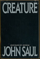 Creature by John Saul-First Printing-1989-Advance Reading Copy