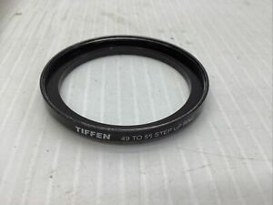 Tiffen  49mm to 55mm Step up Ring Filter Ring threaded screw in