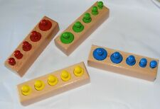 Mini knobbed cylinders, mathematics, wooden toys, montessori