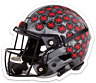 O.S.U. Ohio State University Buckeyes Football Helmet w/ Buckeye stickers MAGNET