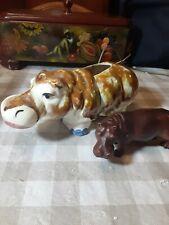 Vintage Porcelain Hippo Hippopotamus Figurines.