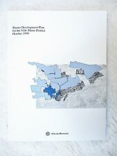 1990 MASTER PLAN for the VILLE-MARIE DISTRICT, MONTREAL, Canada w/ PHOTOS & MAPS