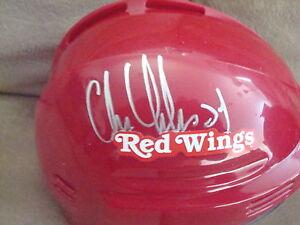 Chris Chelios AUTOGRAPHED DETROIT RED WINGS MINI HELMET SIGNED