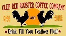 ~Item # 2888 K Primitive Stencil ~ Olde Red Rooster Coffee Comp