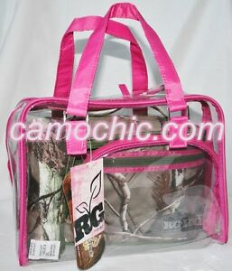 Caboodles Realtree Girl 4 Pc Makeup Travel Bag Lunch Box, Camouflage Pink