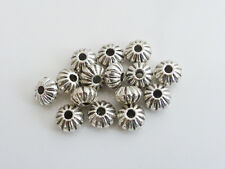40 x Tibetan Silver Flower Saucer Spacer Beads Antique Silver 8mm LF NF Findings