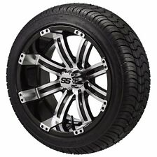 Set of 4 - 205/30-14 Tire on a 14x7 Black/Machined Type 9 Wheel w/FREE freight