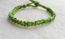 Lime & Green Hemp Bracelet  Friendship Handmade Surfer