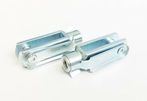 Pair of M6 Long Clevis & Clip Fittings for Kart Brake Pedal / Rod