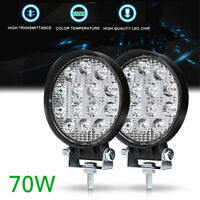 4.5 Inch 70W LED Work Light Bar Spot Pods Driving Fog Off road 4WD Offroad Lamp