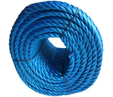 20mm Blue Polypropylene Rope Coils, Polyrope, PP Sailing, Agriculture, Camping