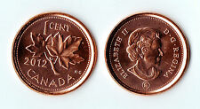 2012 Canadian 1c One Cent Coin ~ UNC Uncirculated MINT ~ Last Ever Cent!