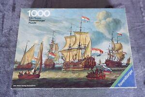 Vintage 1972 RAVENSBURGER 1000 pc Puzzle Amsterdam Port Frigate 6255484