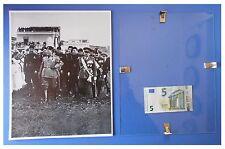 Benito Mussolini con generale Valle in Lazio duce fascismo quadro cornice vetro