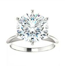 Prong Moissanite Ring 14Kgold Starr Moissanite 4.00 Carat D Color Vvs1 Clarity 6