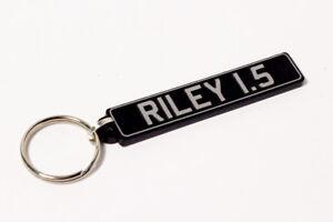 Riley 1.5 Keyring - UK Number Plate Classic Car Keytag / Keyfob